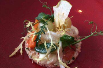Salade van krab met coquille